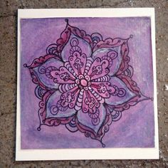 Hand painted mandala greeting card by PrimalPulseDesigns on Etsy Watercolor Pencils, Watercolor Paper, Card Stock, Mandala, My Etsy Shop, Greeting Cards, Hand Painted, Pictures, Painting