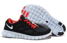 Mens Nike Free Runs 2 Woven Liberty Black Sport Red Shoes [Tiffany Free Runs 520]-$53.87