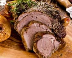 Roasted Pork or Lamb in the Springbok Style. So we've made things a little easier by presenting this authentic South African recipe with your choice of de-boned pork loin or leg of lamb as the centerpiece. The Chew Recipes, Lamb Recipes, Wine Recipes, Brisket, Bbq Roast, Lamb Dinner, Roast Lamb Leg, Meat Packing, Pizza And Beer