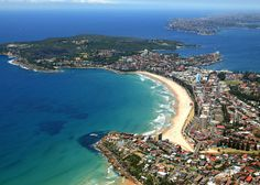 Aerial shot from Queenscliff to North Head. Manly, Australia