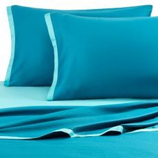 Kas Two Tone Sheet Set - Light Teal/Dark Teal, 100% Cotton, 300 Thread Count - Bed Bath & Beyond
