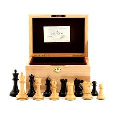 Jaques of London Chess Set - 1972 Fischer Spassky Pieces Beech Box Elgin Marbles, Chess Boxing, Indoor Games, Chess Pieces, Wooden Boxes, Board Games, Anniversary Gifts, Two By Two, London