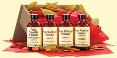 Penzey's Spices | Extracts: Almond and Lemon. 4 oz bottles. $9.49 apiece