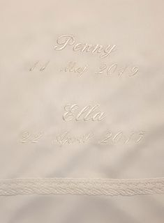 Baby Christening Gowns, Small Letters, Old Dresses, Font Styles, Text Color, White Fabrics, New Product, Machine Embroidery, Pure Products