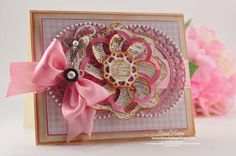 4-30-12  --  SUPPLIES I USED  Stamps: JustRite Papercrafts - Fleuriste Newsprint, Spring Rose Medallions  Paper: Neenah Classic Crest – Cream, My Minds Eye, Coredinations  Ink: Vintage Photo Distress Ink,  Color Box Chalk Ink – Rose Pastel  Accessories: Spellbinders™ Around About, Spellbinders™ Splendid Circles,  Spellbinders™ Picot Edged Circles, Recollections Pearls, Pearl Pic, Zva Creative Pearls, Silk Ribbon, Spare Parts Brad, Peg Bow Maker