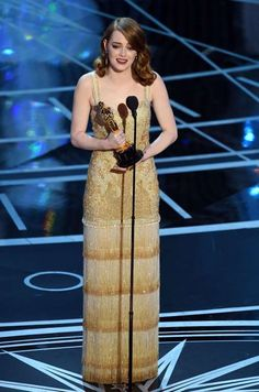 """What's buzzing at the 2017 Oscars:     Emma's night:    Apologies to Justin Timberlake, because Emma Stone doesn't have the feeling! Surprising few, Emma took home the award for best actress  for her performance in """"La La Land."""" She thanked a slew of family, friends, cast and crew in her speech. """"I realize that a moment like this is  a huge confluence of luck and opportunity,"""" she said, before thanking costar Ryan Gosling. """"Thank you...  More..."""
