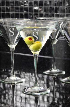 Gorgeous martini glasses.
