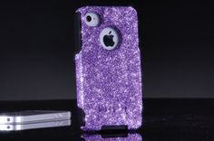 Otterbox iPhone 4 / 4S Case Orchid Purple Glitter Cute by 1WinR