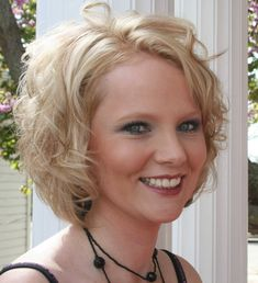 medium layered bobs with bangs for women | Soft Layered Curly Bob - Bob Haircut Photos - Bob Haircut, Page 5