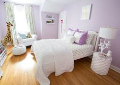 """Lilac and Mint """"Big Girls"""" Room"""