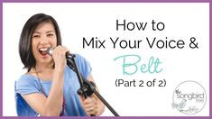 Singing Tutorial: How to Mix Your Voice & Belt - Pt 2 Vocal Lessons, Singing Lessons, Singing Tips, Learn Singing, Vocal Exercises, Vocal Coach, Music Sing, Radiant Skin, Lessons For Kids