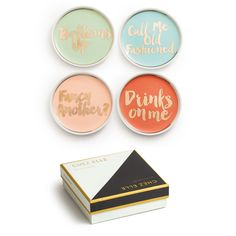Chez Elle Coasters - Set of 4 -  - CARLYLE AVENUE