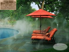 Pool Patio and Fog System for hot days