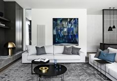 {Bonus Friday Feature post from Mim Design. This time it's actually a residential project - they carry on that clean-lined aesthetic on those too!} Informing the design was the requirement to. Interior Design Awards, Modern Interior, Interior Architecture, Classic Interior, Room Interior, Mim Design, Living Spaces, Living Room, Piece A Vivre