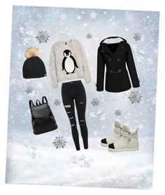 """""""❄winter time❄"""" by dinelaa ❤ liked on Polyvore featuring H&M, Topshop, Steve Madden, women's clothing, women's fashion, women, female, woman, misses and juniors"""