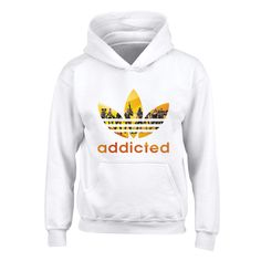 cdf8cca9c4d7 Blue Bubble Tees Kids Fortnite Gamer Addicted Yellow Graphic Hoodie  Sweatshirt M White -- Look