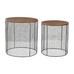 Side table option for round lounge seating area - Sterling Wire Side Tables