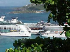 Port of St. Kitts Island in the Caribbean.