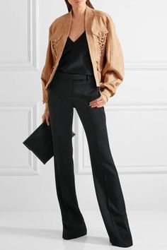 Balmain | Lace-up suede jacket | NET-A-PORTER.COM