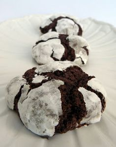 Double Chocolate Crackle Cookies