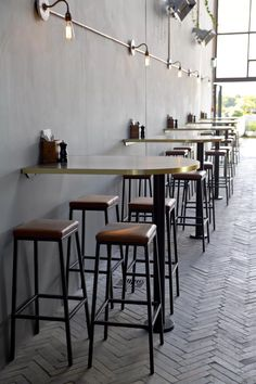 Mr Pickles | Harrows NZ | Designwell | Bar Interior Fitout Coffee Cafe Interior, Coffee Shop Interior Design, Modern Restaurant Design, Deco Restaurant, Design Furniture, Plywood Furniture, Mr Pickles, Cafe Shop Design, Small Cafe Design
