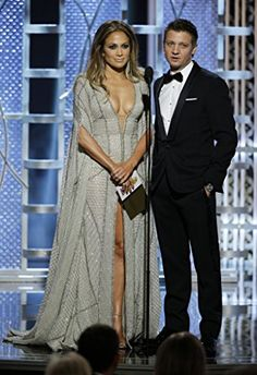 Jennifer Lopez and Jeremy Renner at an event for 72nd Golden Globe Awards (2015)