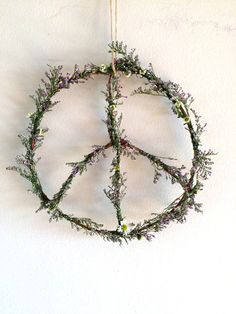 Dried Fresh Flower Peace Wreath