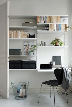Workspace inspiration | String Shelving System available at www.istome.co.uk