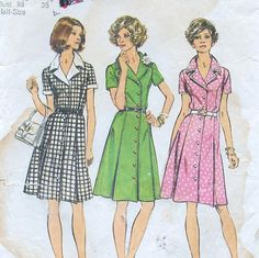Simplicity 6157, A Princess Seam, Short Sleeve, Pleated Skirt, Shirtdress Sewing Pattern by So Sew Some!