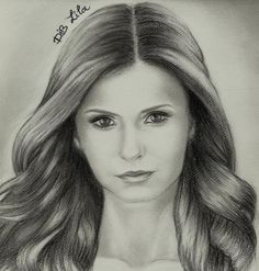 nina dobrev - Sketching by Lila Dib in my sketchings at touchtalent