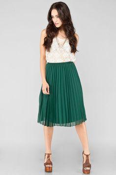 Everly Jewel Pleated Skirt