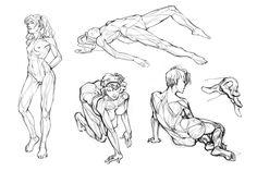 ArtStation - Body Sketches, Vera Velichko