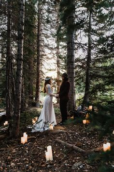 Wedding at a Beautiful Sunrise in a Rocky Mountain National Park Wedding In The Woods, Forest Wedding, Woodland Wedding, Wedding In The Mountains, Cabin Wedding, Wedding Rustic, Bodas Boho Chic, Park Weddings, Destination Weddings