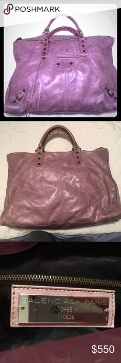 Balenciaga Large Weekender Bag I am re listing because first sale was a scam 🙈Gently used, lilac Balenciaga weekender bag. Balenciaga Bags Travel Bags