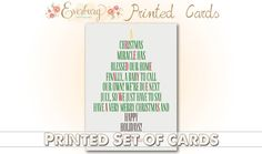 Printed Set of Christmas Pregnancy by EverburgPhotography on Etsy