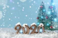 the new year figure 2020 on a blue background with Christmas trees. - Buy this stock photo and explore similar images at Adobe Stock Valentines Day Cards Diy, New Year 2020, Diy Cards, Blue Backgrounds, Christmas Trees, Adobe, Stock Photos, Explore, Image