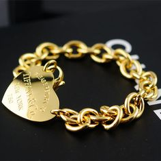 Heart Tag Choker Bracelet Plating​ 18k gold