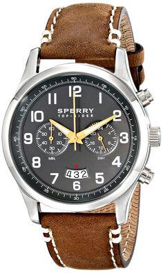 Sperry Top-Sider Men's 10018674 Leeward Analog Display Japanese Quartz Brown Watch