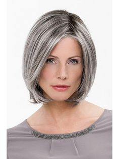 5 Short Layered Bob Hairstyles : All Time Best Layered Bob Hairstyles For Short . Grey Hair Wig, Silver Grey Hair, Short Grey Hair, Blue Hair, Hair Dye, Grey Bob Hairstyles, Summer Hairstyles, Medium Hair Styles, Short Hair Styles