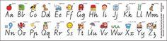 Desk Strips Alphabet VIC (Pack of 30)