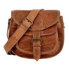 Tan Leather Saddle Bag | The Hippy Clothing Co.