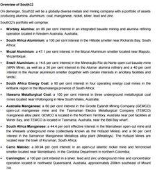 BHP Billiton reveals details of demerger - Australian Mining Mining Company, Western Australia