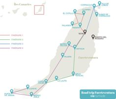 Itinéraire pour un road trip en étoile à Fuerteventura, Canaries Tenerife, Costa, Voyage Europe, Europe Destinations, Canary Islands, Travel Guides, Morocco, Places To Visit, Adventure