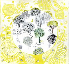 Trees in Yellow circle | Flickr - Photo Sharing!