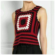 Colete Crochet | Ateliê Arte do Vale Paranaíba | Elo7