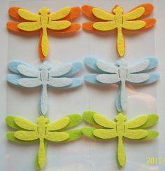 Felt Dragonflies. via Etsy