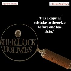 Sherlock Holmes the book, series, or even the movie shared a lot of wonderful insights and how analytical thinking should be a foundation in making decisions.  Do you agree? #👍 or #👎 Leave a comment below or tag a friend to share the message to everyone. 👉👉Follow @jaybraycabana and #thisisanalytics for more posts about #analytics, #DigitalMarketing, #BusinessStrategy Making Decisions, Decision Making, Sherlock Holmes, Book Series, The Book, Insight, Digital Marketing, Foundation, Messages