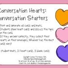 FREE!  Conversation Hearts: Conversation Starters-Pinned by SOS Inc. Resources @sostherapy http://pinterest.com/sostherapy.