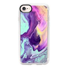 Liquid Pastel - iPhone 7 Case And Cover ($40) ❤ liked on Polyvore featuring accessories, tech accessories, iphone case, iphone cover case, iphone cases, apple iphone case and clear iphone case