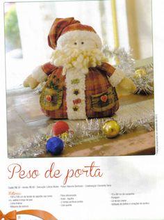 Moldes Para Artesanato em Tecido: Peso de Porta Natal com Moldes